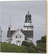 Cape Elizabeth Light II Wood Print