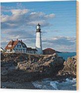Cape Elizabeth Lighthouse Wood Print