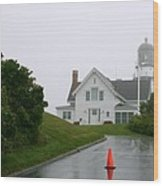 Cape Elizabeth On A Rainy Day- Maine Wood Print