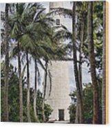 Cape Florida Historic Lighthouse Wood Print