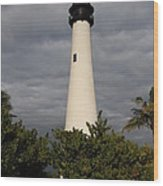 Cape Florida Lighthouse Wood Print