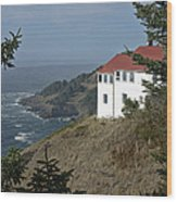 Cape Foulweather Lookout Wood Print