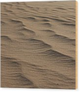 Cape Hatteras Ripples In The Sand-north Carolina Wood Print