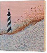 Cape Hatteras Sunrise Wood Print