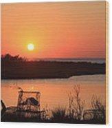 Cape Hatteras Sunset-north Carolina Wood Print