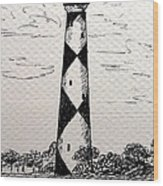 Cape Lookout Lighthouse Nc Wood Print