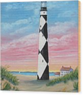 Cape Lookout Sunset Wood Print