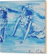Cape May Bathing Beauty Wood Print