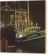 Cape May Fishing Fleet Wood Print