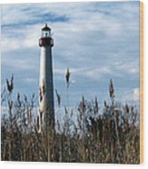 Cape May Light Wood Print