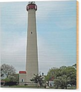 Cape May Lighthouse One Wood Print
