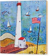 Cape May Point Lighthouse Wood Print