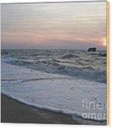Cape May Sunset Beach Nj Wood Print