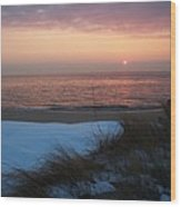Cape May Twilight In February Wood Print