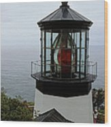 Cape Meares Light Wood Print