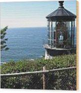 Cape Meares Lighthouse 1 Wood Print