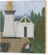 Cape Meares Lighthouse April 2013 Wood Print by Anne Norskog