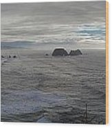 Cape Mears Storms Wood Print