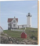 Cape Neddick Lighthouse - Me Wood Print