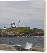 Cape Neddick - Nubble Lighthouse Wood Print