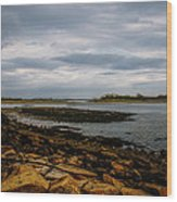 Cape Porpoise Maine - After The Rain Wood Print by Bob Orsillo