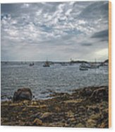 Cape Porpoise Maine - In The Evening Wood Print
