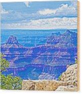Cape Royal Blue On North Rim Of Grand Canyon-arizona Wood Print