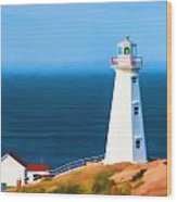 Cape Spear Lighthouse Wood Print