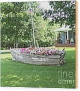 Cape Vincent Flowerboat Wood Print by Kevin Croitz