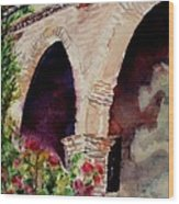Capistrano Arches Wood Print