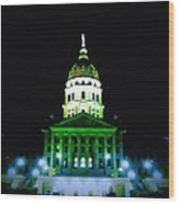 capital building in Topeka Kansas Wood Print