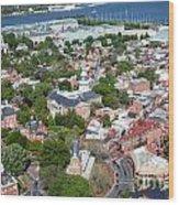 Capital City Of Maryland Wood Print