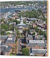 Capital Of Maryland In Annapolis Wood Print