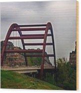 Capital Of Texas Bridge Wood Print