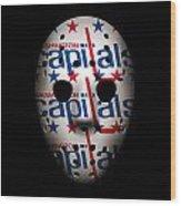 Capitals Goalie Mask Wood Print