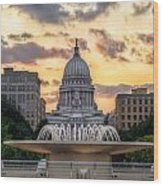 Capitol Building In Madison Wisconsin Wood Print