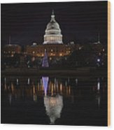Capitol Christmas - 2012 Wood Print