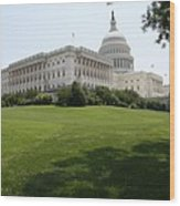 Capitol Hill View Washington Dc Wood Print