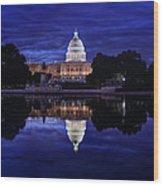 Capitol Morning Wood Print