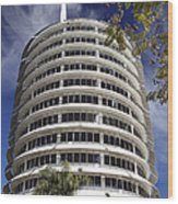 Capitol Records Building 2 Wood Print