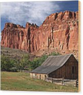 Capitol Reef Homestead Wood Print
