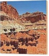 Capitol Reef Twin Towers Wood Print