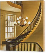 2 - Capitol Staircase - Montgomery Alabama Wood Print