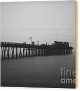Capitola Wharf Wood Print by Paul Topp