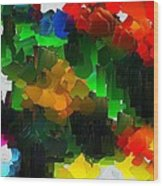 Capixart Abstract 109 Wood Print