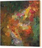 Capixart Abstract 90 Wood Print by Chris Axford