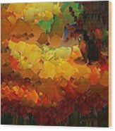 Capixart Abstract 91 Wood Print