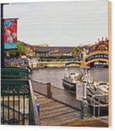 Cap'n Jacks Marina Harbor Walt Disney World Wood Print