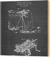 Capps Machine Gun Patent Drawing From 1899 - Dark Wood Print