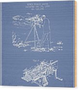 Capps Machine Gun Patent Drawing From 1899 - Light Blue Wood Print